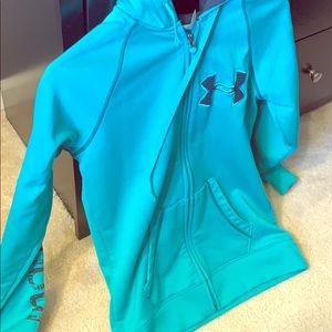 Under Armour zip up hooded sweatshirt